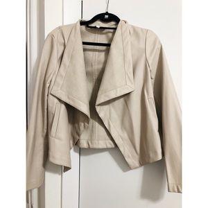BB Dakota tan faux leather jacket size M